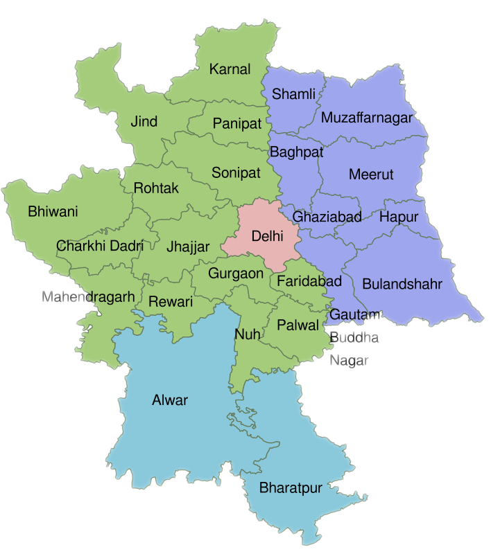 map of Delhi NCR
